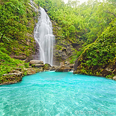 Khe Kem Waterfall Royalty Free Stock Images - Image: 15246959