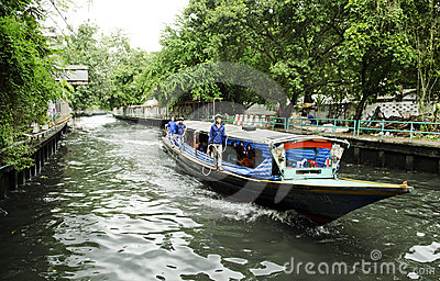 Khlong canal ferry boat bangkok thailand Editorial Stock Image
