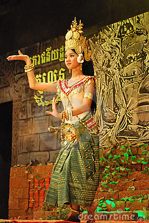 Free Khmer Apsara Dance Stock Photography - 12437772