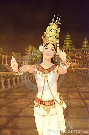 Khmer apsara dance Editorial Stock Image