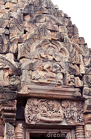 Khmer art on the stone