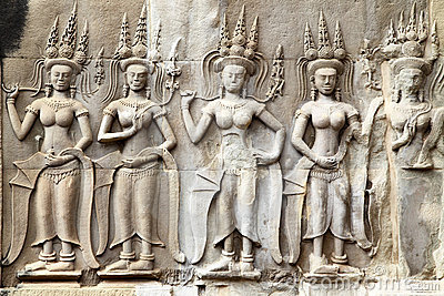 Khmer carving in Angkor