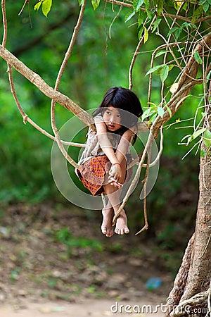 Khmer Child in Cambodia Editorial Stock Image