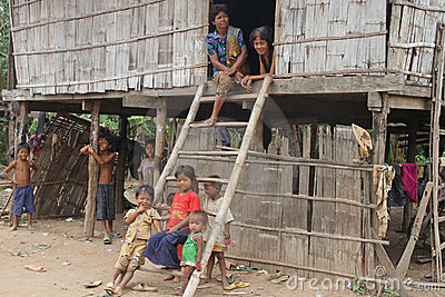 Khmer Family of Cambodia Editorial Stock Image
