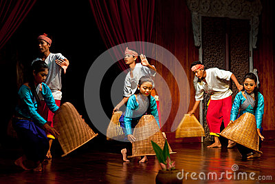Khmer Folk Dance Editorial Stock Photo