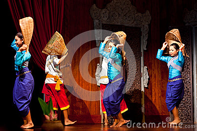 Khmer Folk Dance Editorial Stock Image