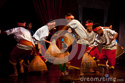 Khmer Folk Dance Editorial Photography