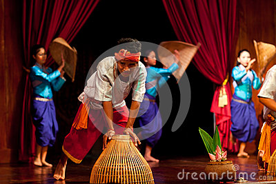 Khmer Folk Harvest Dance Editorial Image