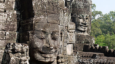 Khmer Head carvings
