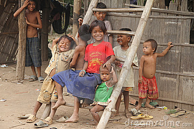Khmer Kids of Cambodia Editorial Photo
