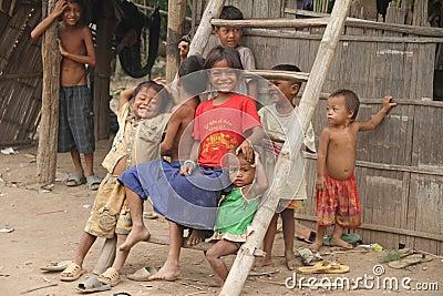 Khmer Kids of Cambodia Editorial Photo