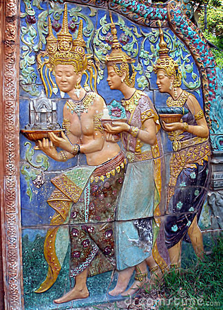 Khmer painted architecture, Phnom Penh