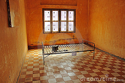 Khmer Rouge prison cell
