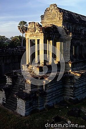 Khmer temple- Angkor Wat ruins, Cambodi