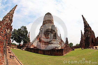 Khmer temple in Ayutthaya