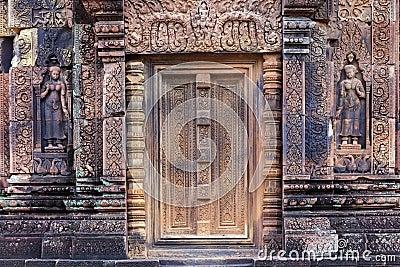 Khmer temple door
