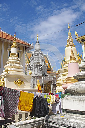 Khmer temple in Phnom Penh