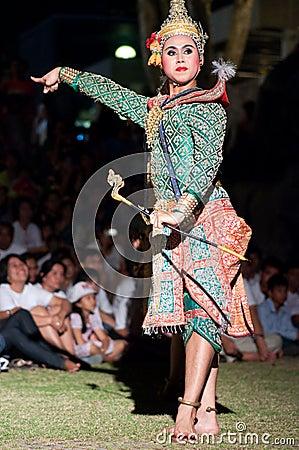 Khon-Thai culture drama dance show Editorial Stock Photo