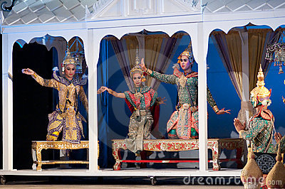 Khon-Thai culture drama dance show Editorial Stock Image