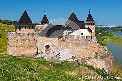 Khotyn fortress in summer
