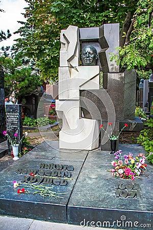 Khrushchev s grave Editorial Stock Photo