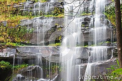 Khunphong Waterfall in deep jungle