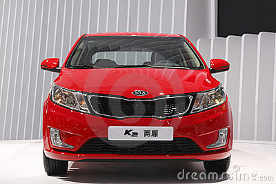 Kia K2 sedan world debut in Guangzhou Auto Show Editorial Photo