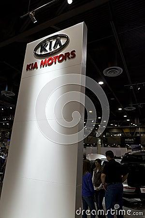 KIA Motors Sign Editorial Photography