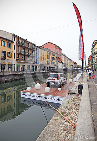 Kia Soul exhibition, Fuorisalone at Navigli Design District Editorial Image