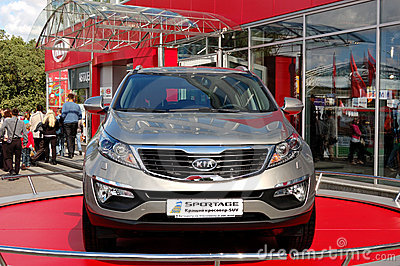 Kia Sportage at Yearly automotive-show Editorial Photo