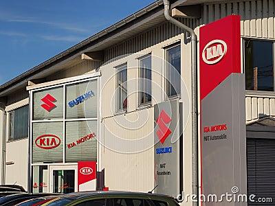 KIA and Suzuki dealership Editorial Photography