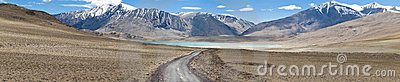 Kiagar Tso and highway path