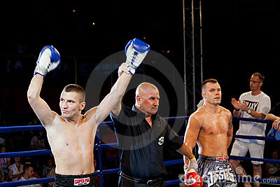 Kick-boxers Editorial Photography