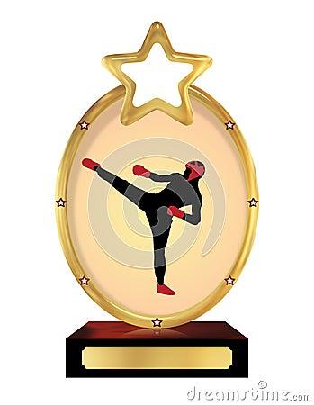 Kick boxing Trophy