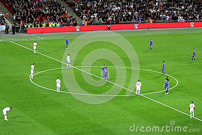 Kick off England - San Marino Editorial Stock Photo