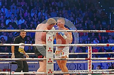 Kickboxers in ring Editorial Image