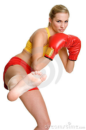 Free Kickboxing Woman Royalty Free Stock Images - 5784529