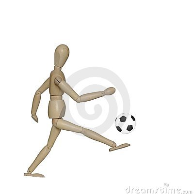 Free Kicking Foot  Ball Dummy Stock Photos - 16034663