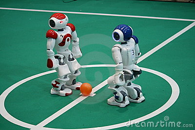 Kickoff at Robocup 2009 Editorial Stock Image