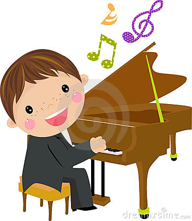 Free Kid And Piano Stock Photo - 18540690