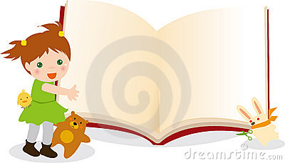 Kid and animals  book