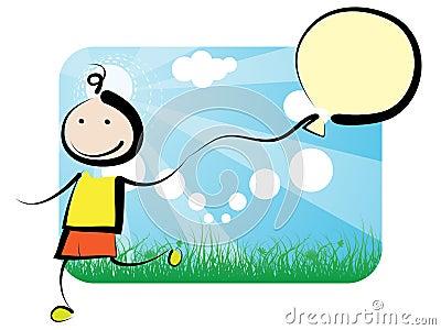 Kid with ballon