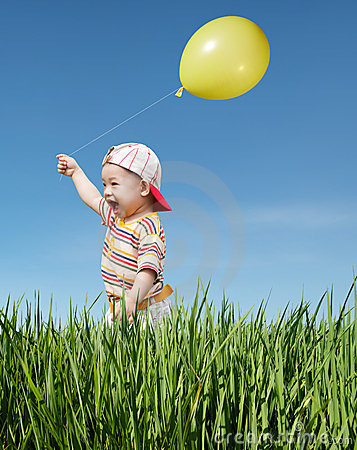 Kid and balloon