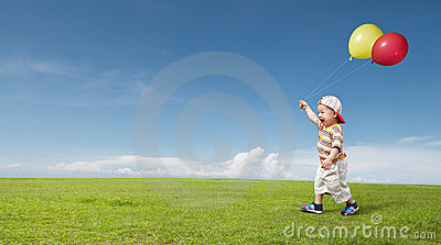 Kid and balloon