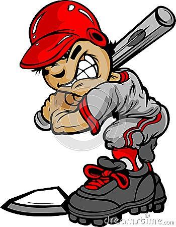 Free Kid Baseball Batter Holding Bat Royalty Free Stock Photos - 24485238