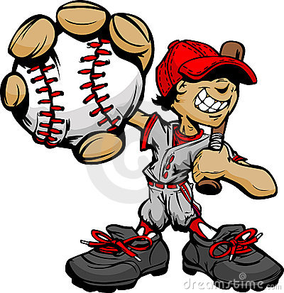 Free Kid Baseball Player Holding Baseball And Bat Stock Images - 23182474