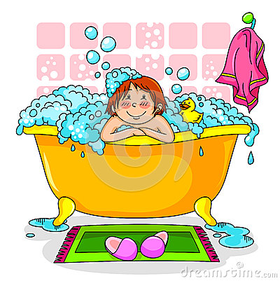 Kid in the bath