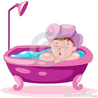 Kid in the bathtub
