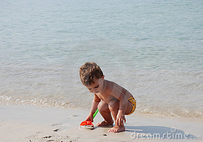 Kid in the beach
