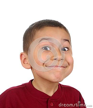 Kid with big smile